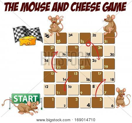 Rats, mice and cheese boardgame