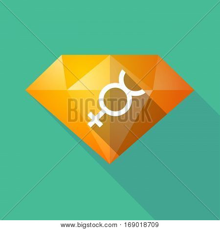 Long Shadow  Diamond With  The Mercury Planet Symbol