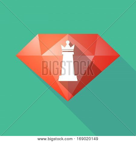 Long Shadow  Diamond With A  Queen   Chess Figure