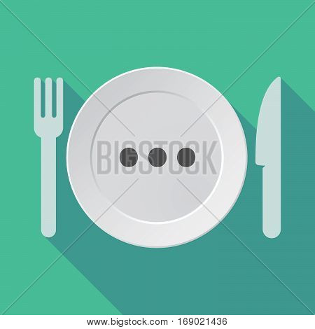 Long Shadow Tableware With  An Ellipsis Orthographic Sign