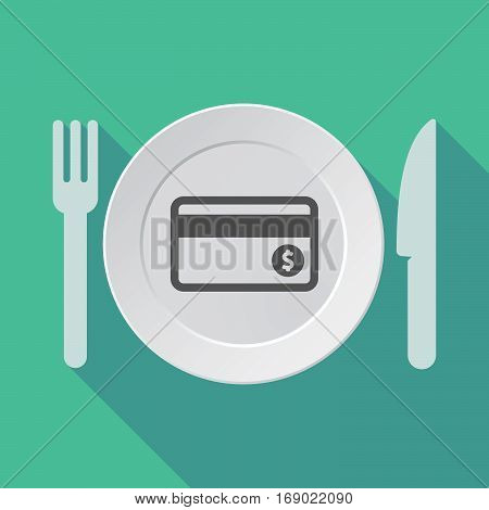 Long Shadow Tableware With  A Credit Card