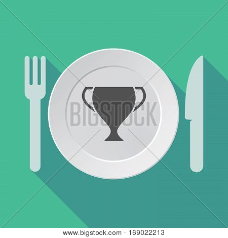 Long Shadow Tableware With  An Award Cup