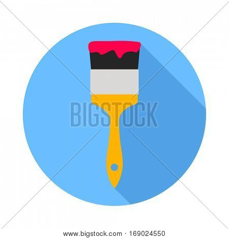 Paint brush. Flat Design vector icon