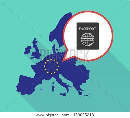 Map Of The Eu Map With  A Passport