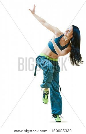 fitness zumba instructor dancing exercises