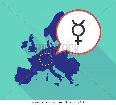 Map Of The Eu Map With  The Mercury Planet Symbol