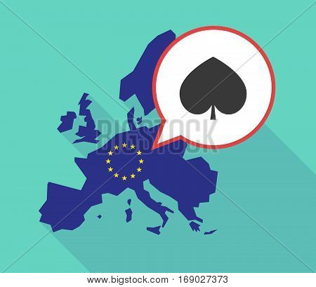 Map Of The Eu Map With  The  Spade  Poker Playing Card Sign