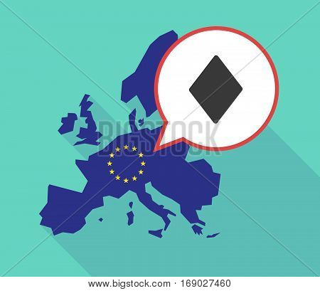 Map Of The Eu Map With  The  Diamond  Poker Playing Card Sign