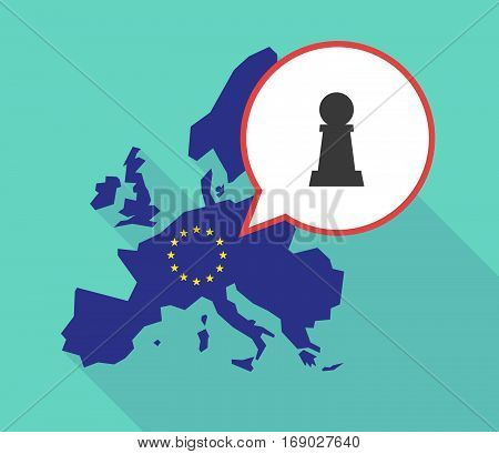 Map Of The Eu Map With A  Pawn Chess Figure