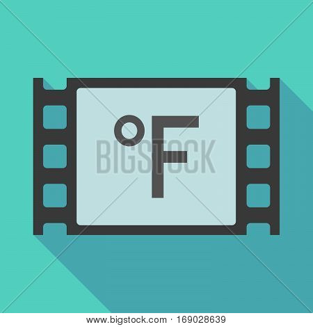 Long Shadow Film Frame With  A Farenheith Degrees Sign