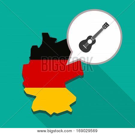 Map Of Germany With  An Ukulele