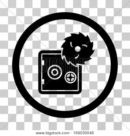 Break Safe icon. Vector illustration style is flat iconic symbol black color transparent background. Designed for web and software interfaces.