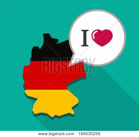 Map Of Germany With  An