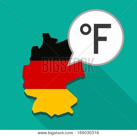 Map Of Germany With  A Farenheith Degrees Sign