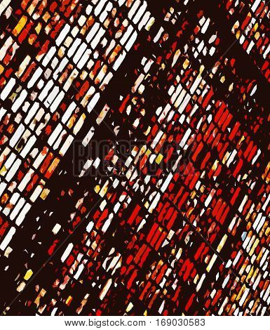 Abstract image of a brick wall. Red black abstract background.  Red and black. Red and black grunge. Dark grunge. Brick wall. Abstract art. Abstract artwork. Art.