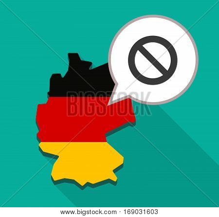 Map Of Germany With  A Forbidden Sign