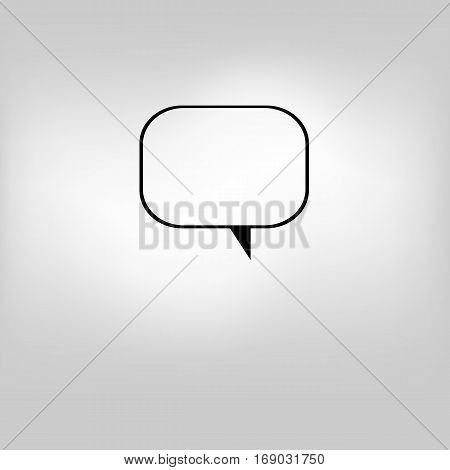 Vector isolated moder banner icon bubble speesh illustration
