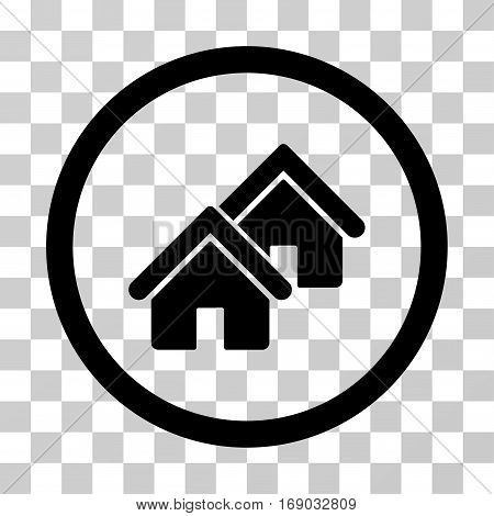 Realty icon. Vector illustration style is flat iconic symbol black color transparent background. Designed for web and software interfaces.