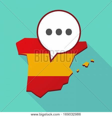 Map Of Spain With  An Ellipsis Orthographic Sign