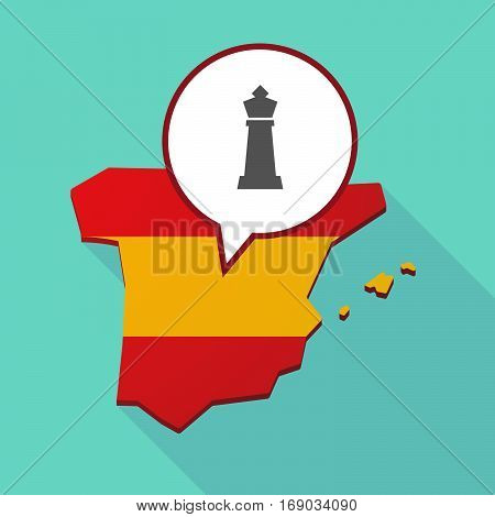 Map Of Spain With A  King   Chess Figure