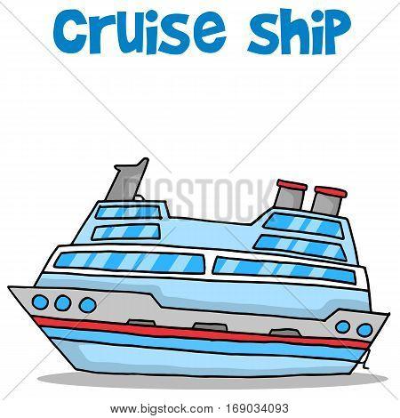 Cartoon of cruise ship vector collection stock