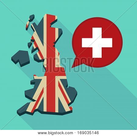 Map Of Uk With   The Swiss Flag