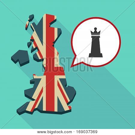Map Of Uk With A  Queen   Chess Figure