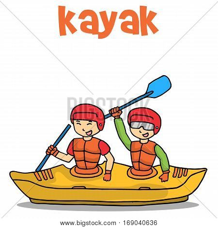 Transport of kayak vector flat collection stock