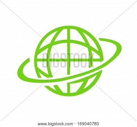 Green Planet icon illustration on white background