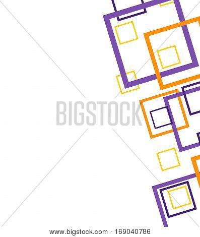 Abstract geometric colorful pattern on white background