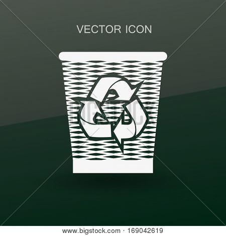Bin vector icon