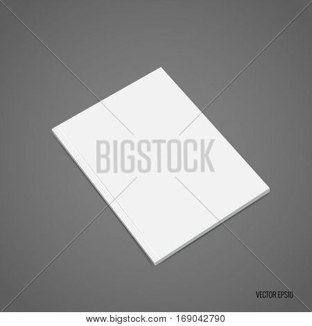 Blank catalog, magazines,book mock up. Vector illustration.