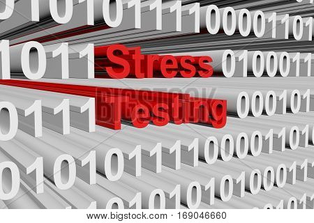 stress testing in the form of binary code, 3D illustration