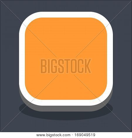 Use it in all your designs. Flat web internet square button with oval shadow in 3D style. Hover variant. Quick and easy recolorable shape. Vector illustration a graphic element