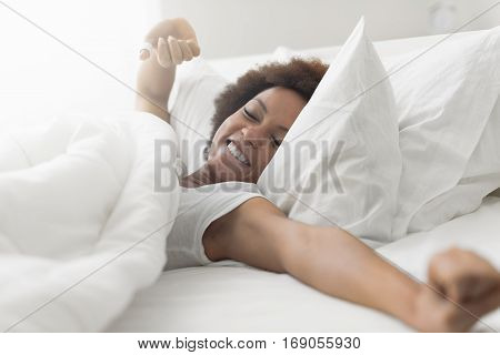 Beautiful Woman Waking Up