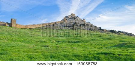 Within an ancient Genoese fortress in Sudak Crimea Ukraine