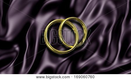 3D illustration Abstract Background with Wedding Rings