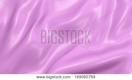 3D Illustration Abstract Pink Background Silk Cloth