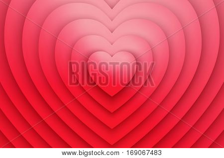 Red Heart Love Symbol Abstract Vector Background. Valentine's Day illustration