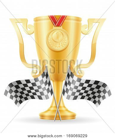 Reccing Cup Winner Gold Stock Vector Illustration