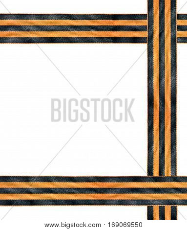 St. George ribbon isolated on white background