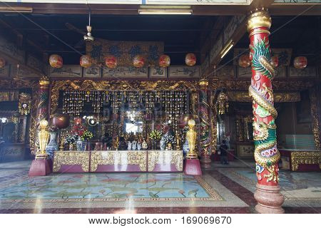 Objects of a Buddhist cult are in Buddhist temples
