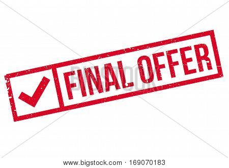 Final Offer rubber stamp. Grunge design with dust scratches. Effects can be easily removed for a clean, crisp look. Color is easily changed.