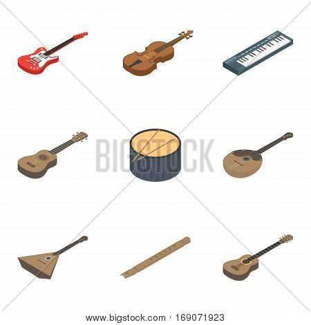 Musical instruments set icons in cartoon design. Big collection of musical instruments vector symbol stock illustrationCar