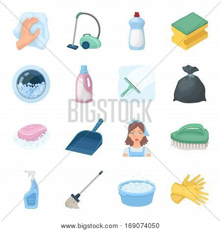 Cleaning set icons in cartoon design. Big collection of cleaning vector symbol stock illustration