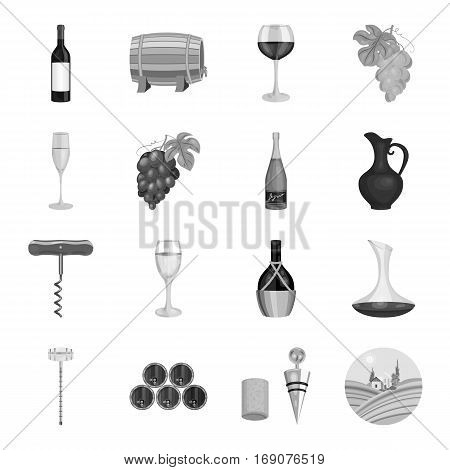 Wine production set icons in monochrome design. Big collection of wine production vector symbol stock illustration