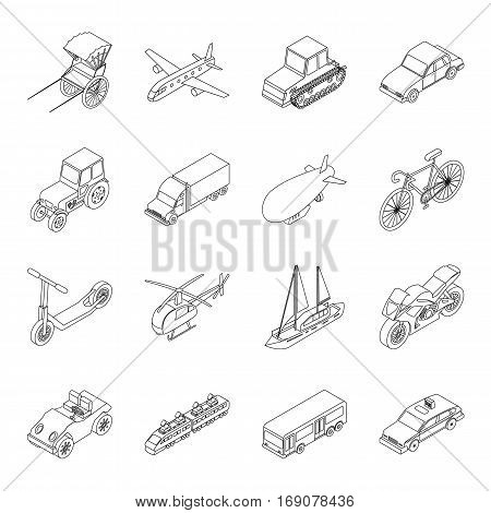 Road signs set icons in outline design. Big collection of road signs vector symbol stock illustration