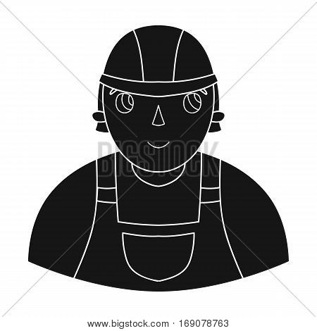 Foreman icon in monochrome design isolated on white background. Architect symbol stock vector illustration.