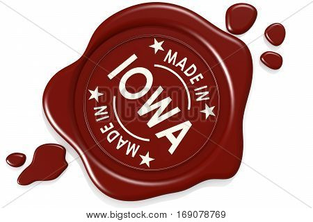 Label Seal Of Made In Iowa