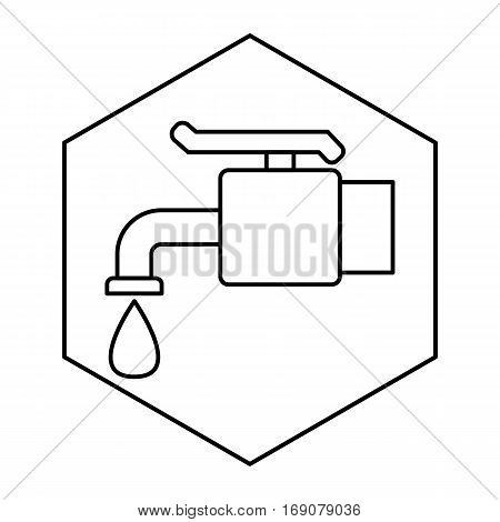 a simple thin line faucet icon vector